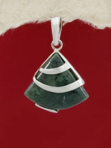 Сребърен медальон PK130 Авантюрин