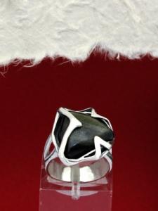 Сребърен пръстен RK158 Златист обсидиан