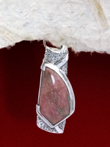 Сребърен медальон PK157 Родонит