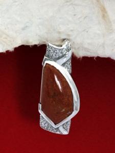 Сребърен медальон PK157 Червен яспис