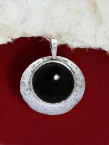 Сребърен медальон PK3 Оникс