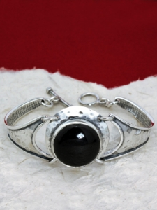 Сребърна гривна BK3 Оникс