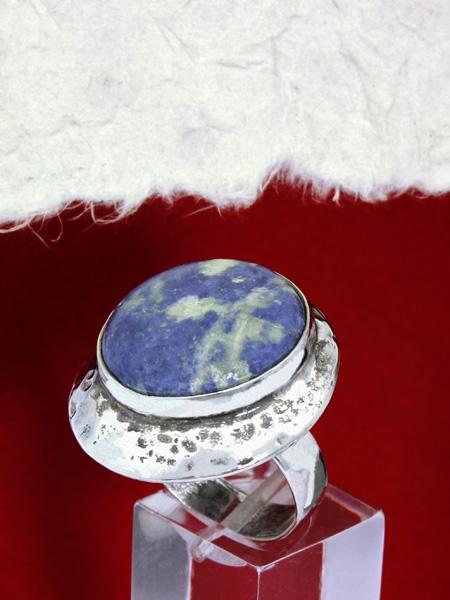 Сребърен пръстен RK3 Содалит