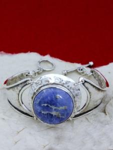 Сребърна гривна BK3 Содалит