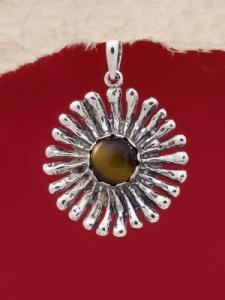 Сребърен медальон PK26 Тигрово око