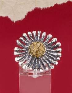 Сребърен пръстен RK26-Ахатизирано дърво