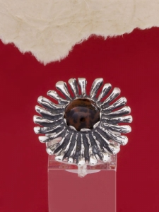 Сребърен пръстен RK26 Махагонов обсидиан