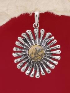 Сребърен медальон PK26 Яспис делматин