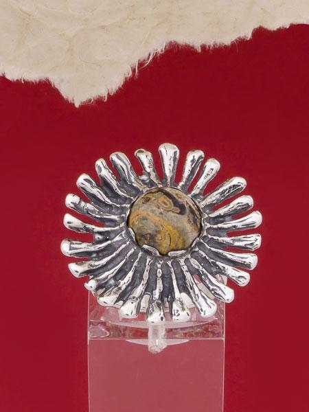 Сребърен пръстен RK26 Яспис делматин