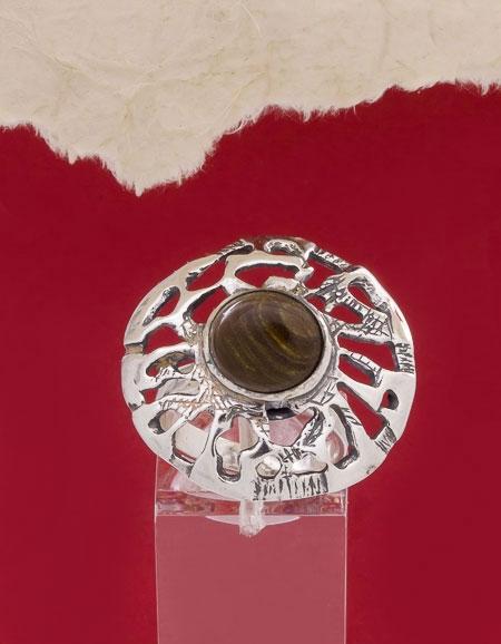 Сребърен пръстен RK48 Оникс