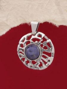 Сребърен медальон PK48 Лазурит