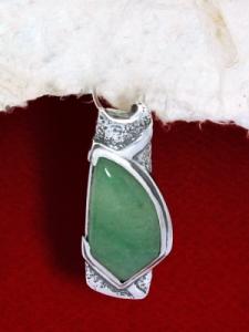 Сребърен медальон PK157 Авантюрин