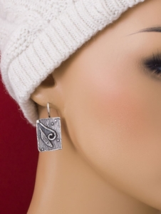 Сребърни обеци - EK129