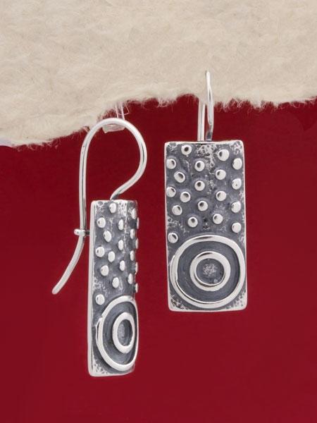 Сребърни обеци - EK143