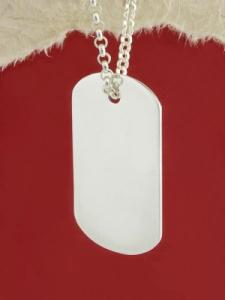 Сребърна войнишка плочка