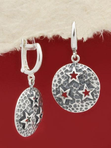 Сребърни обеци - EK353