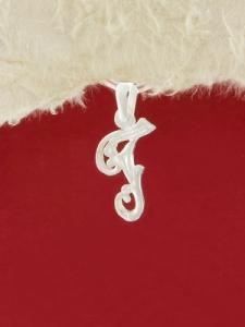 Сребърен медальон буква Г - P324
