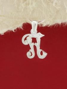 Сребърен медальон буква П - P324