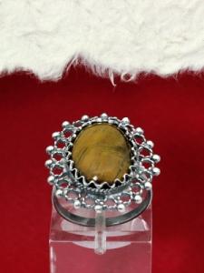 Сребърен пръстен - FRK74 - Тигрово око