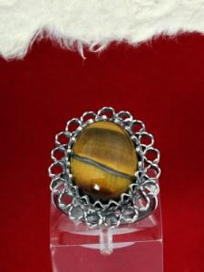 Сребърен пръстен - FRK76 - Тигрово око