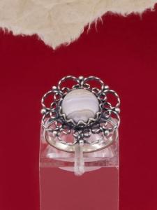 Сребърен пръстен - FRK91 - Ивичест ахат