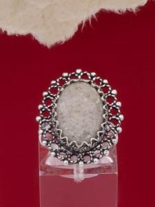 Сребърен пръстен - FRK74 - Бял авантюрин