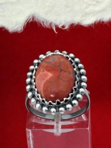 Сребърен пръстен - FRK87 - Брекча яспис