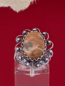 Сребърен пръстен - FRK89 - Брекча яспис
