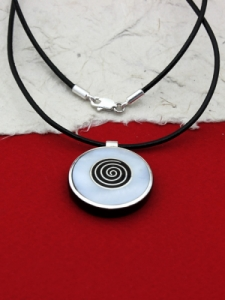Медальон от рог и сребро - CPK1