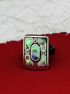 Пръстен от рог и сребро - CRK4