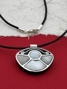 Медальон от рог и сребро - CPK5