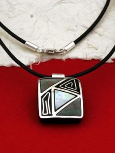 Медальон от рог и сребро - CPK7