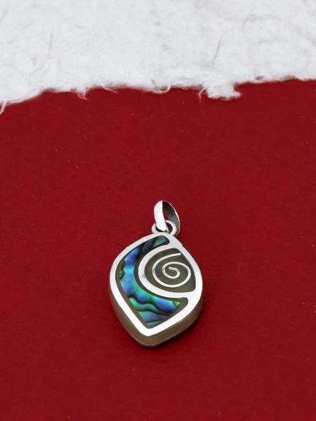 Медальон от рог и сребро - CPK10 Седеф