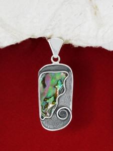 Сребърен медальон със седеф - SP1