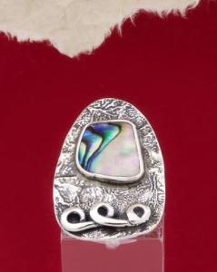 Сребърен пръстен със седеф - SRK3