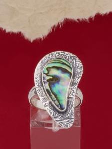 Сребърен пръстен със седеф - SRK7