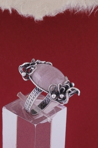 Сребърен пръстен - FRK92 - Розов кварц