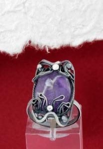 Сребърен пръстен - FRK92 - Аметист