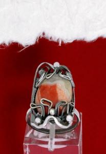 Сребърен пръстен - FRK92 - Брекча яспис
