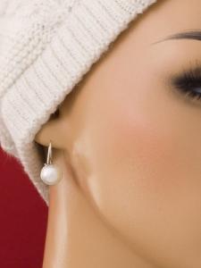 Сребърни обеци - HE_pearl_big