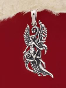 Сребърен медальон P245