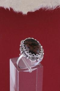 Сребърен пръстен FRK28 - Махагонов обсидиан