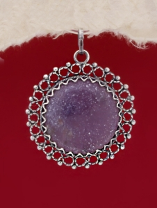 Сребърен медальон FPK73 - Лапидолит