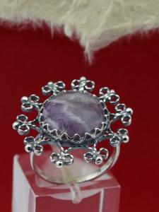 Сребърен пръстен FRK86 - Аметист