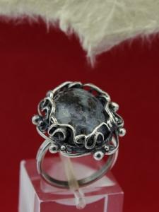 Сребърен пръстен FRK95 - Кордиерит