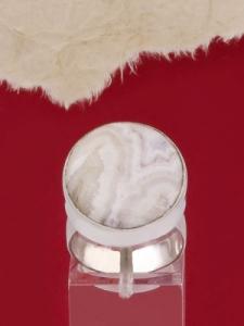 Сребърен пръстен RKWS3A - Ивичест ахат