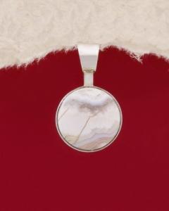 Сребърен медальон PKWS3A - Ивичест ахат