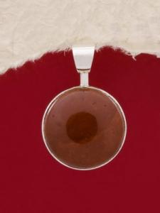 Сребърен медальон - PKWS3A - Червен яспис