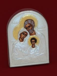 Сребърна икона Светото Семейство - 501051