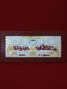 Сребърна картина Тайната вечеря - 501054